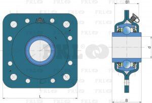 Подшипниковый узел GWST209PPB12*ZN в стальном корпусе