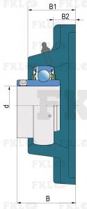 Подшипниковый узел LEF205-2F в сером чугунном корпусеПодшипниковый узел LEF205-2F в сером чугунном корпусе