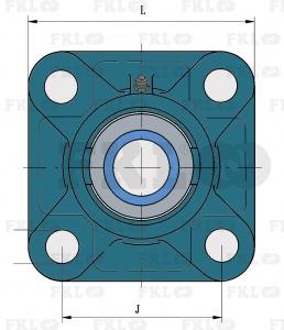 Подшипниковый узел LEF206-2F в сером чугунном корпусе