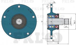 Ступица режущего узла левая PL-185-M30-LH