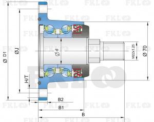 Ступица режущего узла IL40-98/4T-M22