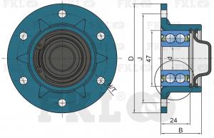 Ступица сошника AgroPoint PL-7517 для посевной техники SKF