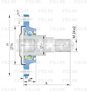 Ступица режущего узла IL30-100/4T-M24x2