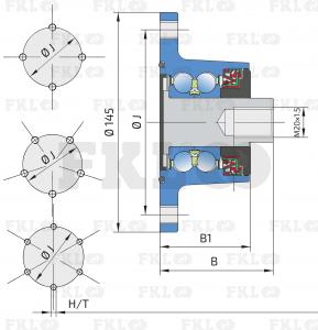 Ступица режущего узла IL50-122/6T-M20x1.5