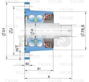 Ступица режущего узла AgroPoint IL50-98/5T-М22