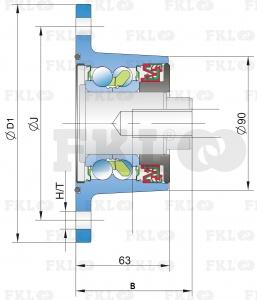 Ступица режущего узла IL60-120/4x12.5H-M20