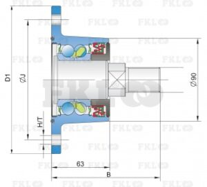 Ступица режущего узла AgroPoint IL60-130/6T-M27